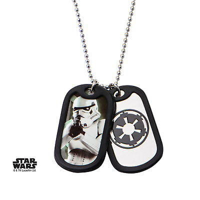 Dog tag Star Wars Stormtrooper Official SW Stormtrooper double dog tag pendant