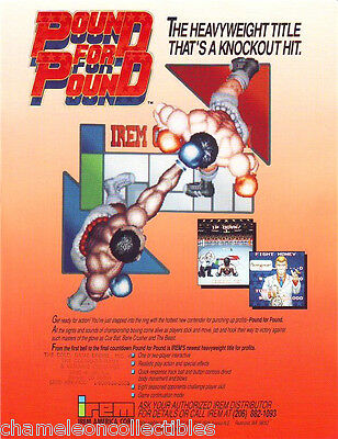 POUND FOR POUND By IREM 1990 ORIGINAL NOS VIDEO ARCADE GAME SALES FLYER BROCHURE