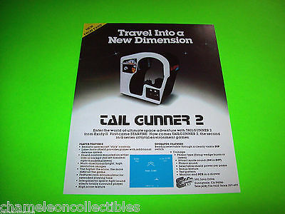 TAIL GUNNER 2 By EXIDY 1980 ORIGINAL NOS VIDEO ARCADE GAME SALES FLYER BROCHURE