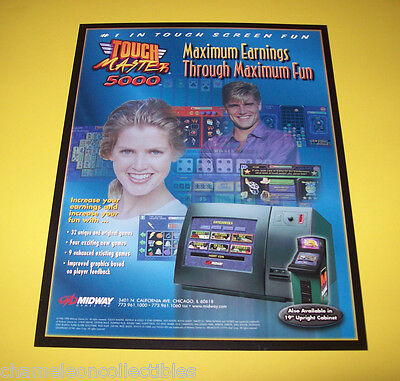 TOUCH MASTER 5000 By MIDWAY ORIGINAL NOS VIDEO ARCADE GAME SALES FLYER BROCHURE