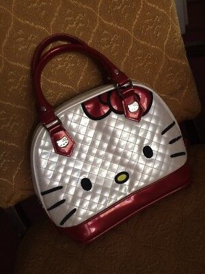 Authentic Hello Kitty Red & White Dome Purse Travel Bag