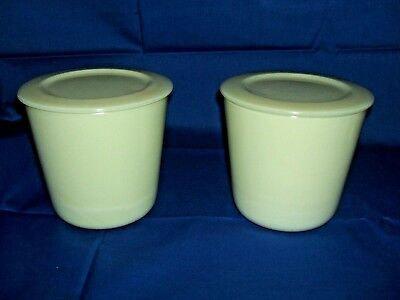 RARE  PAIR OF 1930'S    Mc KEE CUSTARD CANISTERS