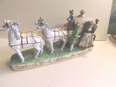 12 inch Made in Occupied Japan coach with 4 horses, Maruyama