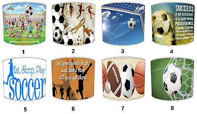 Soccer Football Lampshades, Ideal To Match Football Quilts & Bedspreads.