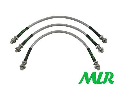 Escort Mk2 Rs2000 Mexico Stainless Steel Braided Brake Lines Hoses Pipes Kit Of