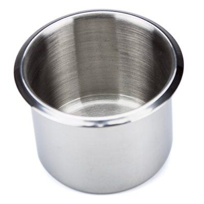 Brybelly Single Stainless Steel Drop-In Cup Holder, Small