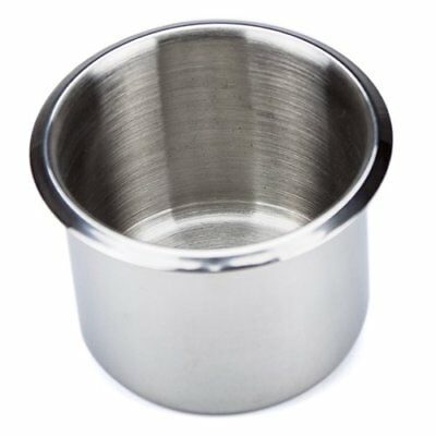 Single Stainless Steel Drop-In Cup Holder, Small