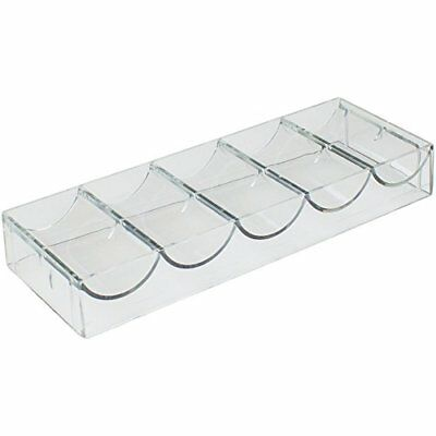 Clear Acrylic Poker Chip Tray, Holds 100 Chips 5 x 20