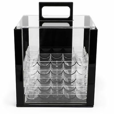 Acrylic Poker Chip Carrier with Chip Trays, Holds 1,000 Poker Chips