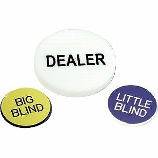 Poker Button Set: Dealer, Big Blind, and Little Blind