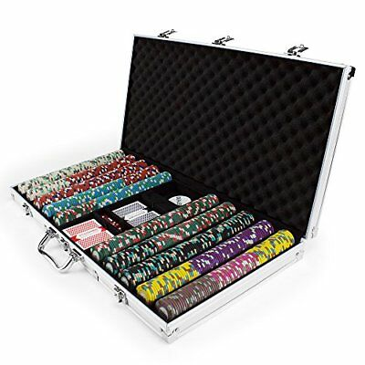 750ct. Poker Knights 13.5g Poker Chip Set in Aluminum Carry Case