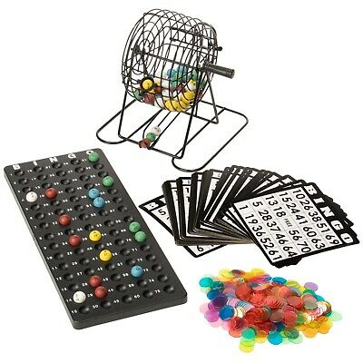 """Royal Bingo Supplies Dexlue Bingo with 6"""" Cage, Cards, Balls, and 300 Chips"""