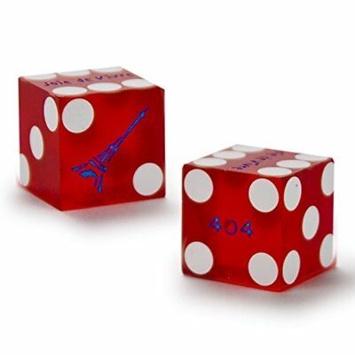 clear BLUE numbered Authentic PAIR OF PALACE STATION LAS VEGAS CASINO DICE