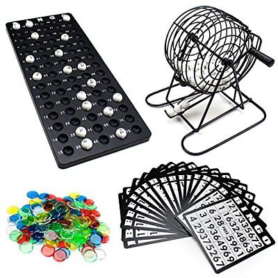 "Complete Bingo Game with 6"" Cage, Cards, Balls, and Chips"