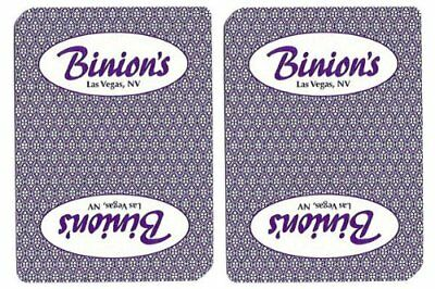 Authentic Cancelled Casino Playing Cards, Really Used at Binion's Casino