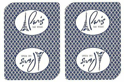 Authentic Cancelled Casino Playing Cards, Really Used at Paris Casino