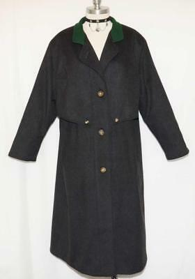 LODEN WOOL Trench Over Coat BAUR Austria EXTRA LONG Winter WARM Jacket 18 XL