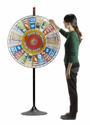 "36"" Customizable Pocket Prize Wheel with Extending Base Stand"