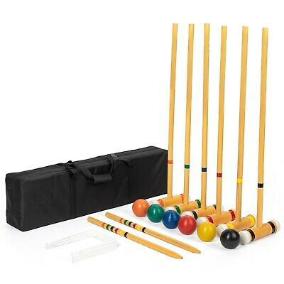 6-player Deluxe Croquet Set & Carry Bag