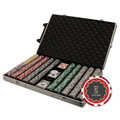 1,000ct. Eclipse 14g Poker Chip Set in Rolling Aluminum Metal Carry Case