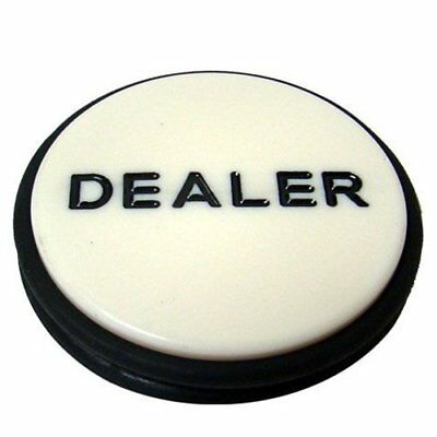"Jumbo 3"" Casino Grade Acrylic Poker Dealer Button Puck"