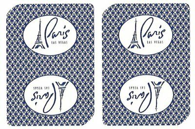 Authentic Cancelled Casino Playing Cards, Paris Casino + Bounty Button Kit
