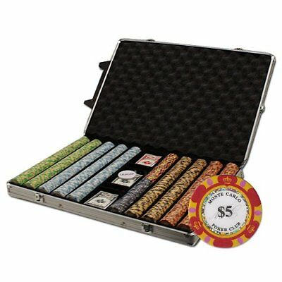 1,000ct. Monte Carlo 14g Poker Chip Set in Rolling Aluminum Case