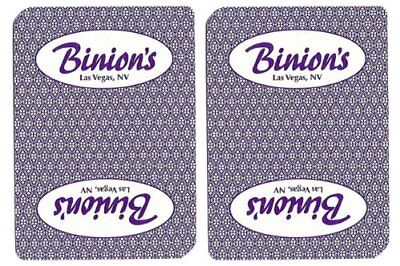 Authentic Cancelled Casino Playing Cards, Binion's Casino + Bounty Button Kit