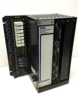 Emerson 858905-00 Rev L 320A Chassis Programmable Motion Controller w/Modules