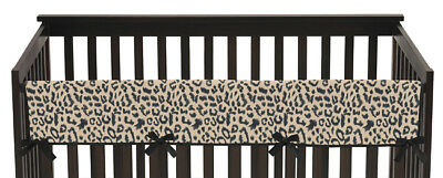 Animal Safari Long Front Rail Guard Baby Boy Girl Teething Cover Crib Protector