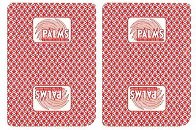 Authentic Cancelled Casino Playing Cards, Palms Casino + Bounty Button Kit