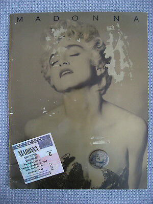 Madonna programme Ticket + Badge Who's That Girl Wembley 1987 Vintage Original !