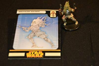 Star Wars Miniatures Revenge Of The Sith Game Nautolan Soldier Figure W/Card #49