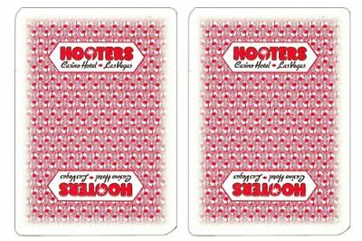 Authentic Cancelled Casino Playing Cards, Hooters + Bounty Button Kit