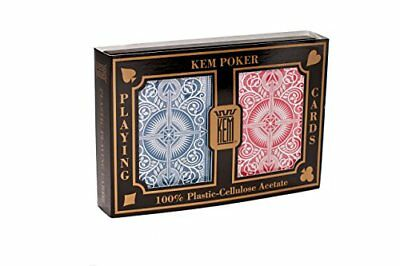 KEM Plastic Playing Cards, Arrow Red/Blue Poker Size, Standard Index