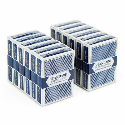 Brybelly Standard Playing Cards, Poker Wide Size, Jumbo Index, Blue 12-pack