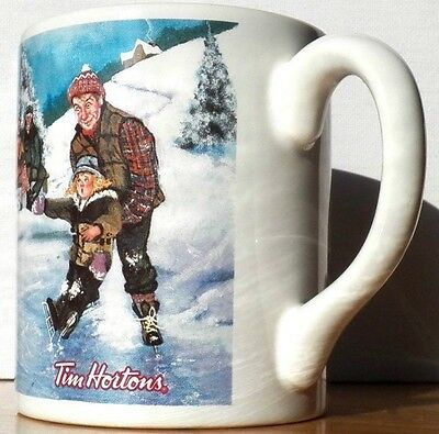 """Fine Collectible Is This Tim Horton's Mug / Cup """"skating Pond"""" Series No. 003"""