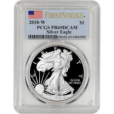 2018-W American Silver Eagle Proof - PCGS PR69 DCAM - First Strike