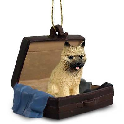 Cairn Terrier Red Traveling Companion Dog Figurine In Suit Case Ornament