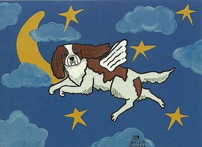 Cavalier Angel, Blenheim Cavalier King Charles Spaniel blank note card