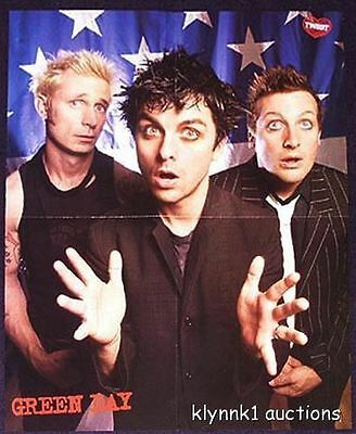Green Day Billie Joe Poster Centerfold 189A Mario on the back