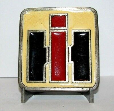 Vintage International Harvester IH LOGO Belt Buckle 1970's Spec Cast Rockford IL