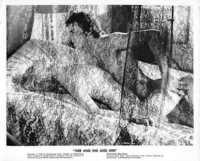"""ASTRID FRANK vintage 1970 sexploitation movie photo """"Her And She And Him"""""""