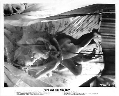 """ASTRID FRANK & NICOLE DEBONNE 1970 sexploitation photo """"Her And She And Him"""" #2"""