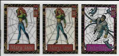 1994 Fleer Amazing Spiderman SUSPENDED ANIMATION CLEAR CHASE CARD LOT #2 (x2),#9