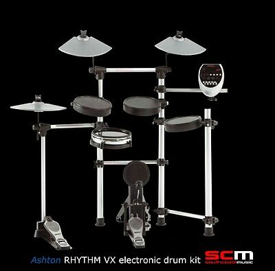 BRAND NEW ASHTON ELECTRONIC DRUM KIT RHYTHM VX DRUMKIT with DUAL ZONE SNARE