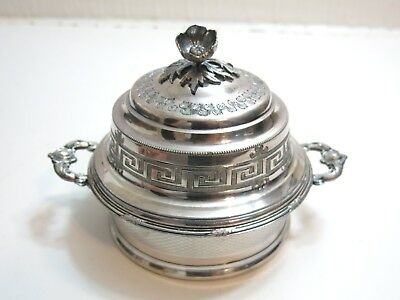 Vintage Rogers Smith & Comany Silver Plate Dome Butter Dish Warmer