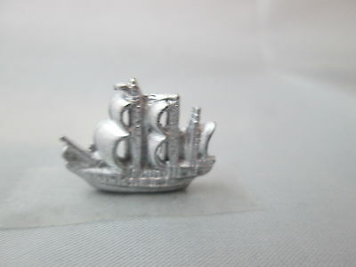 Dollhouse Miniature Unfinished Metal Toy Ship #1
