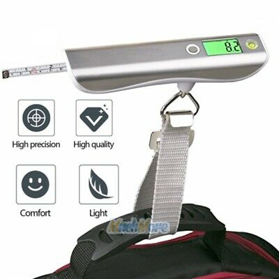 Portable Travel Tare 110lb 50kg Hanging Digital Suitcase Luggage Scale with Tape