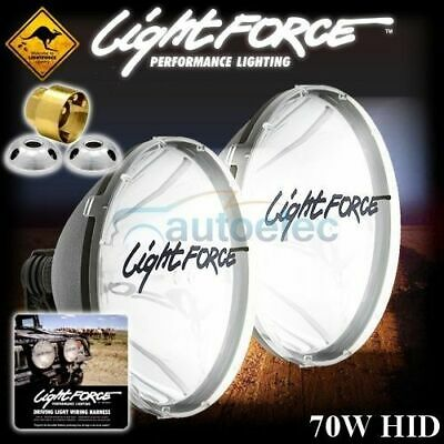 Lightforce 240 Blitz Hid 70 Watt Hid240T70 Genuine + Aussie Harness + Locknuts
